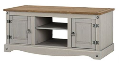 Premium Corona Grey Wash 2 Door TV Unit